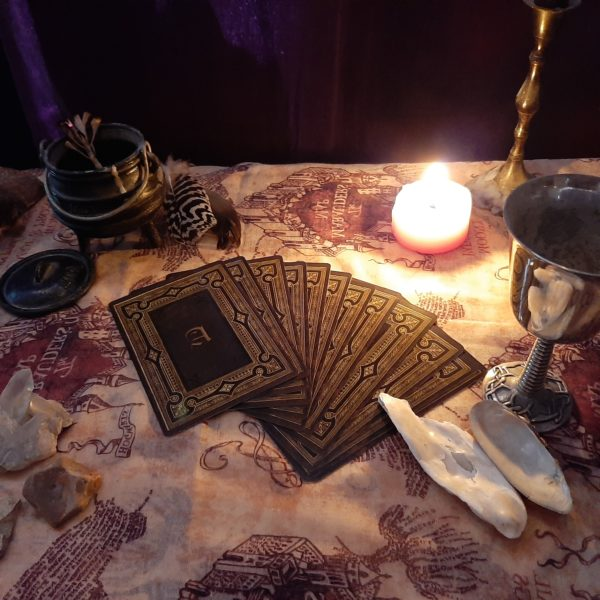Magic cards and candles1